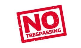 Отсутствие Trespassing избитой фразы Стоковые Изображения RF