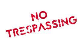 Отсутствие Trespassing избитой фразы Стоковая Фотография RF