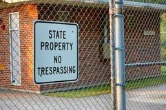 отсутствие trespassing положения свойства Стоковое Изображение