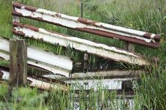 Отсутствие trespassing сельской местности загородки Стоковые Фотографии RF