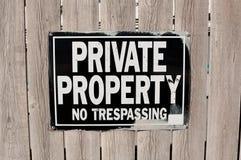 отсутствие trespassing Стоковые Изображения RF