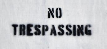Отсутствие Trespassing 2 Стоковая Фотография RF