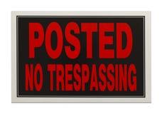 Отсутствие Trespassing Стоковые Фото
