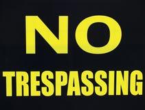 отсутствие trespassing Стоковое Фото