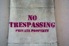 отсутствие trespassing Стоковая Фотография