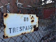 отсутствие trespassing Стоковое Изображение RF
