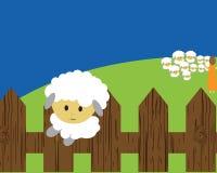 отсутствующие овцы бега Стоковые Изображения