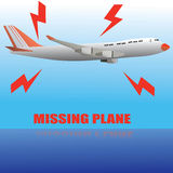Отсутствующий самолет Бесплатная Иллюстрация