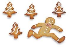 отсутствующий ход человека gingerbread Стоковые Фото