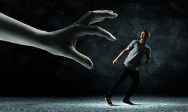 отсутствующий ход человека Стоковое Изображение