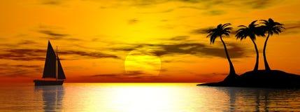отсутствующий sailing Стоковое Фото