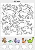 Отсчет и картина красят животных иллюстрация штока