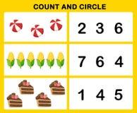 Отсчет и круг иллюстрация вектора