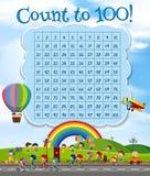 Отсчет номера математики до 100 бесплатная иллюстрация