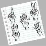 Отсчет руки и пальцев бесплатная иллюстрация