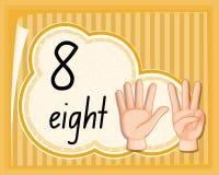 Отсчет 8 с жестом рукой бесплатная иллюстрация