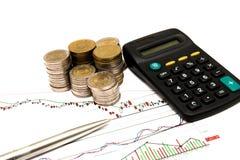 Отсчет финансов стоковое изображение