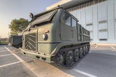 Отслеживаемый трактор артиллерии Стоковое Изображение RF