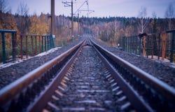 отслеживайте поезд Стоковое Изображение