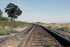 отслеживайте поезд Стоковые Фото