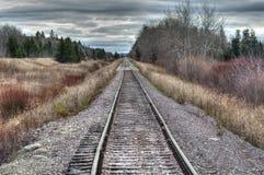 отслеживайте поезд Стоковое фото RF