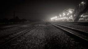 отслеживайте поезд Стоковое Фото