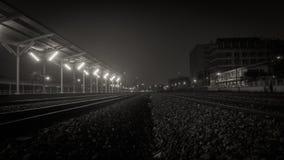 отслеживайте поезд Стоковые Изображения