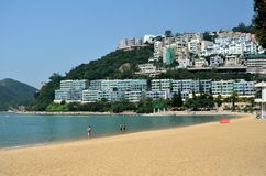 Оттолкните пляж залива, остров Hong Kong Стоковые Изображения