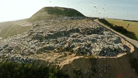 Отход домочадца сброса города воздушное strandja съемки горы Болгарии Сброс города Стоковое Изображение RF