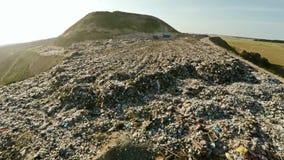 Отход домочадца сброса города воздушное strandja съемки горы Болгарии Стоковые Изображения RF