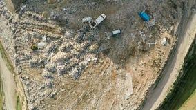 Отход домочадца сброса города воздушное strandja съемки горы Болгарии Сброс города Стоковые Изображения