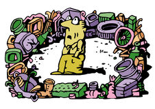 отход загрязнения иллюстрация штока
