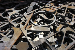 Отход metals предпосылка фабрики Стоковое фото RF