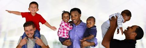 Отцы и дети стоковые фотографии rf
