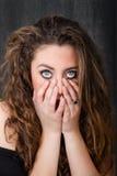 Отчаяние женщины стоковая фотография