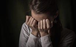 Отчаянная девушка Стоковые Фото