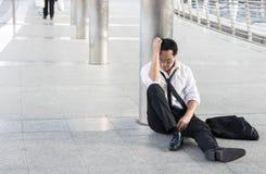 Отчаянный и безработный, концепция экономического спада, frus Стоковые Изображения