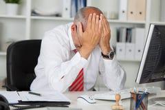 Отчаянный менеджер стоковое изображение rf