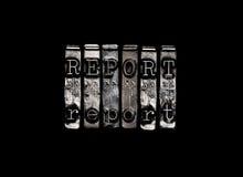 Отчет или исследование Стоковое Изображение RF
