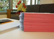 Отчет о офиса в офисе Стоковые Изображения