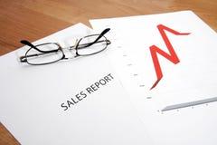Отчет о продажах Стоковые Изображения RF