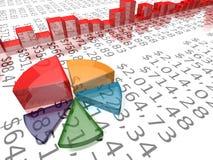 отчет о расстегая доллара диаграммы Стоковое Изображение RF