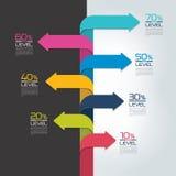 Отчет о срока вертикальный, шаблон, диаграмма, схема, постепенное infographic Стоковые Изображения