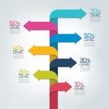 Отчет о срока вертикальный, шаблон, диаграмма, схема, постепенное infographic Стоковая Фотография