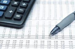 отчет о финансов 02 дел Стоковые Изображения RF