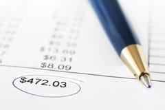 отчет о финансов Стоковые Фотографии RF