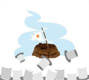 отчет о groundhog дня Иллюстрация штока