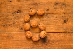 6 от грецких орехов Стоковое Фото