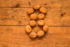 8 от грецких орехов Стоковые Изображения RF