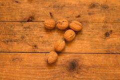 7 от грецких орехов Стоковые Фото